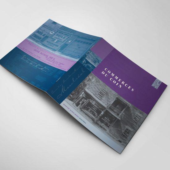 Brochure Commerces du coin | Coquelicot design