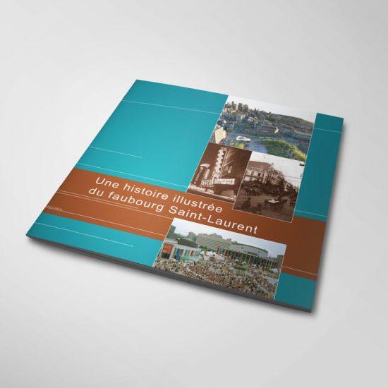 Brochure Une histoire illustrée du faubourg Saint-Laurent | Coquelicot design