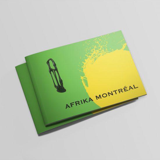 Catalogue de l'exposition Afrika Montréal | Coquelicot design