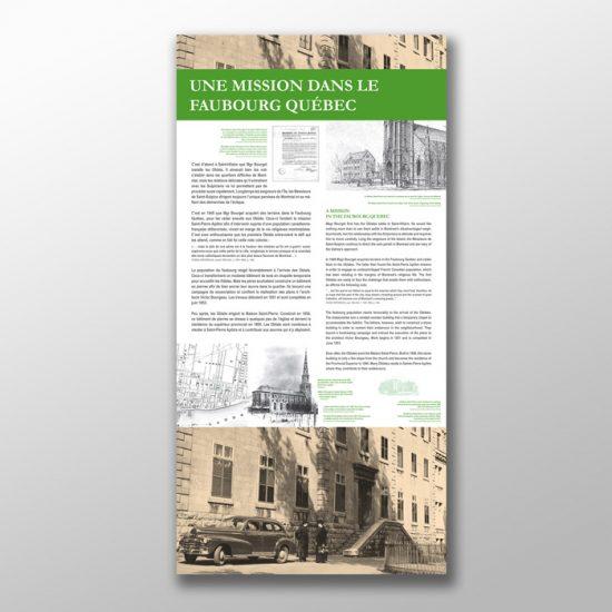 Exposition Audace et persévérance : l'héritage des Oblats O.M.I. | Coquelicot design