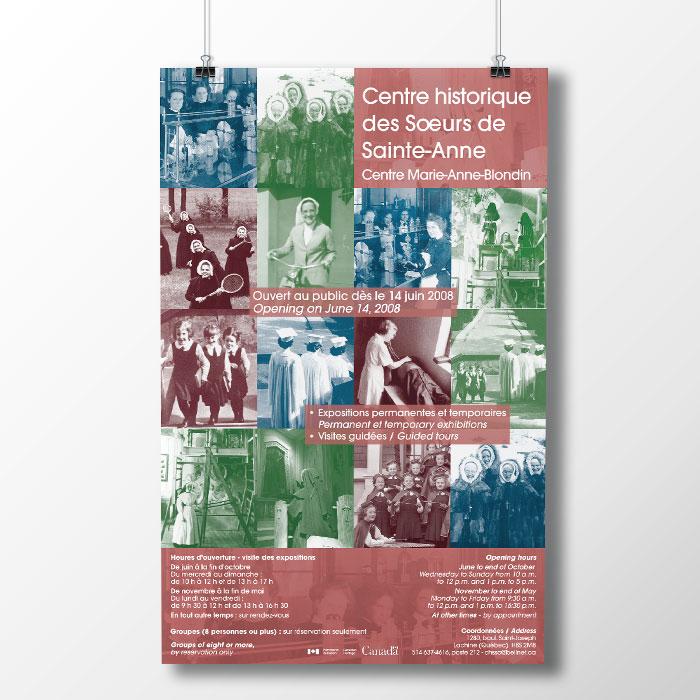 Affiche - Centre historique des Sœurs de Sainte-Anne | Coquelicot design