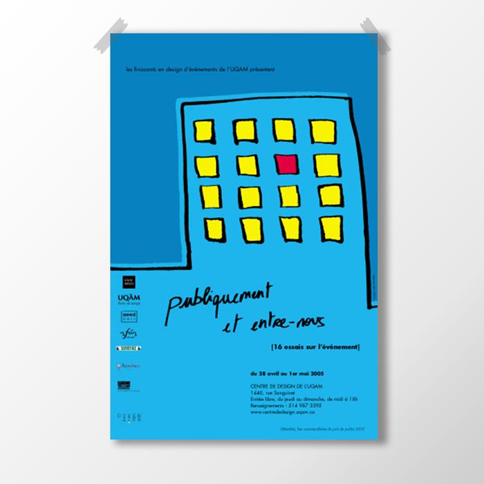 Affiche - Publiquement et entre nous | Coquelicot design