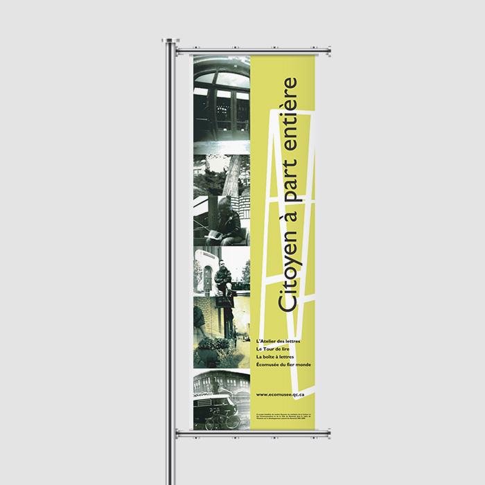 Bannière extérieure - Citoyen à part entière | Coquelicot design