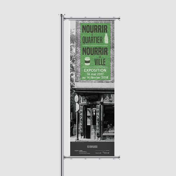 Bannière extérieure - Nourrir le quartier, Nourrir la ville | Coquelicot design