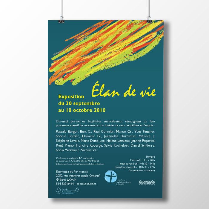 Affiche - Élan de vie | Coquelicot design