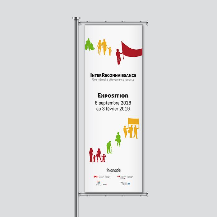 Bannière extérieure - InterReconnaissance | Coquelicot design