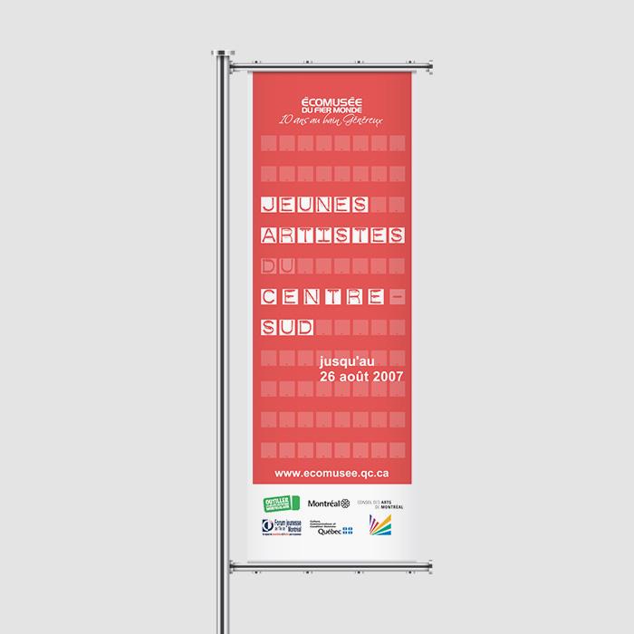 Bannière extérieure - Jeunes artistes | Coquelicot design