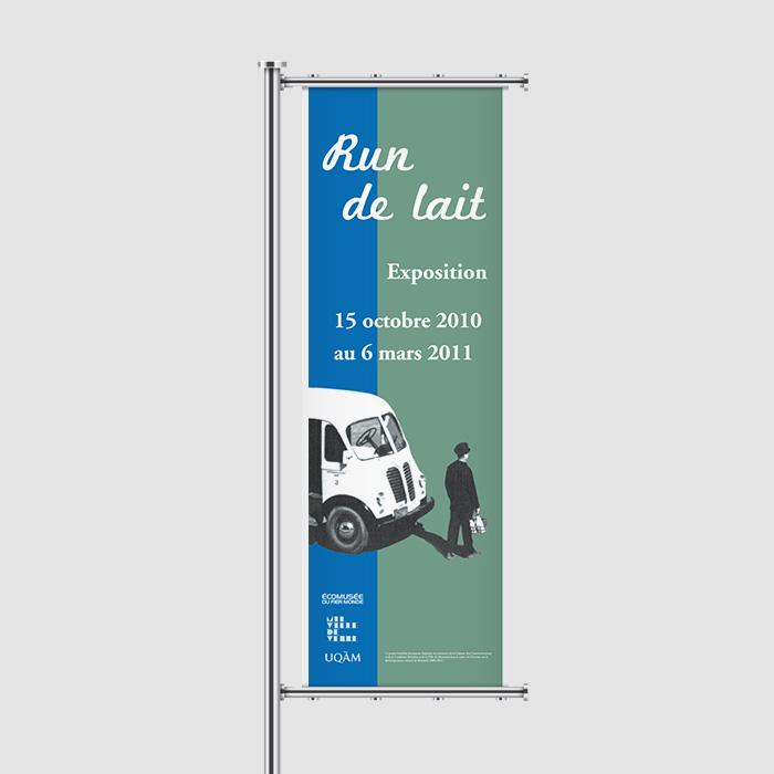 Bannière extérieure - Run de lait | Coquelicot design