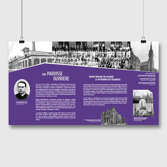 Panneau d'exposition - Ilot Sainte Brigide | Coquelicot design