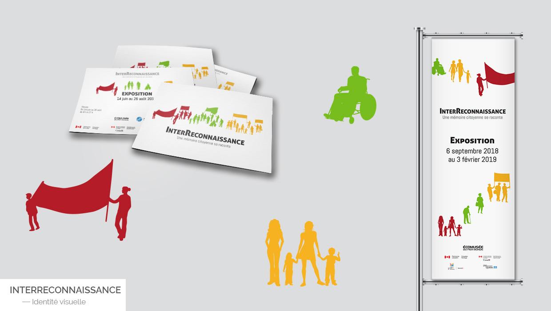 Identité visuelle - InterReconnaissance | Coquelicot design