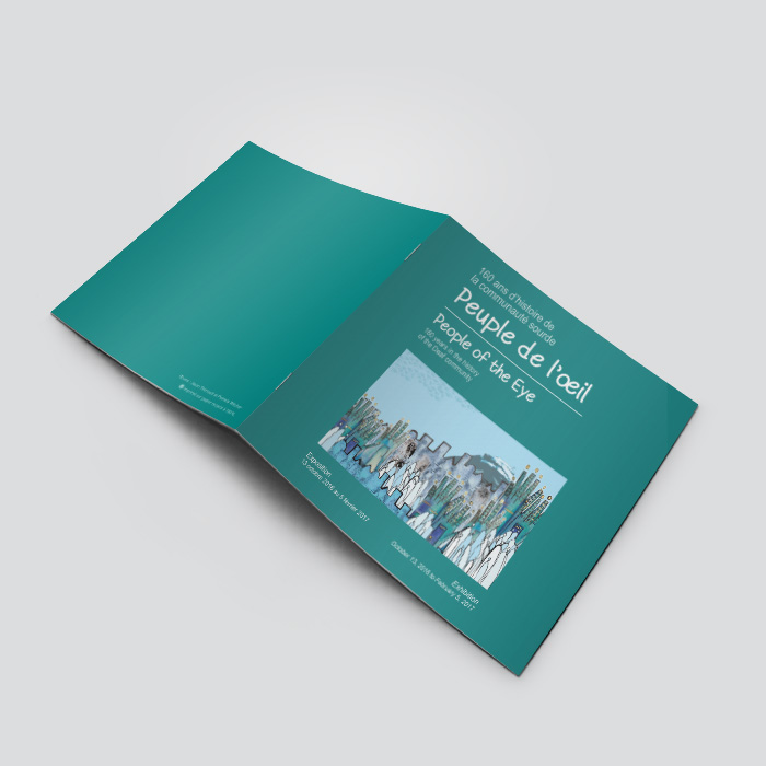 Publication d'exposition - Peuple de l'oeil | Coquelicot design