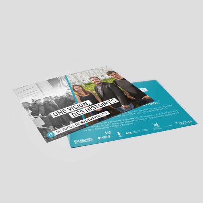 Cartons promotionnels - Fonds de Solidarité FT | Coquelicot design