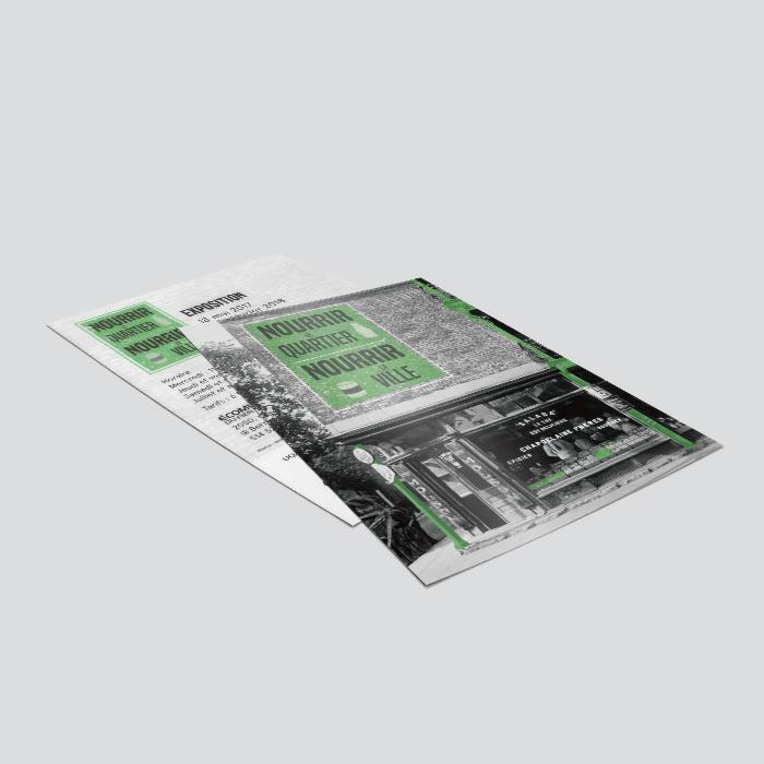 Cartons promotionnels - Nourrir le quartier, Nourrir la ville | Coquelicot design