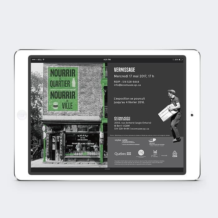Invitation virtuelle - Nourrir le quartier, Nourrir la ville | Coquelicot design