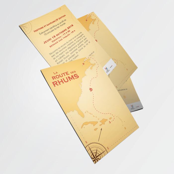 Cartons promotionnels - Route du rhum | Coquelicot design