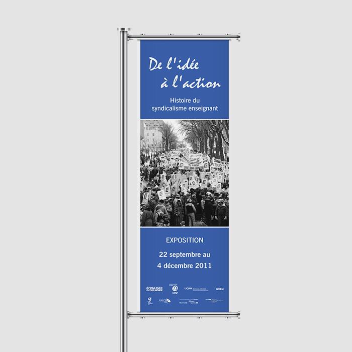 Bannière extérieure - Le syndicalisme enseignant | Coquelicot design
