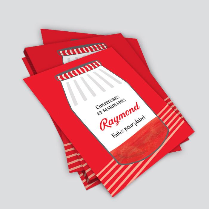 Cartons promotionnels - Confitures et marinades Raymond : faites pour plaire! | Coquelicot design