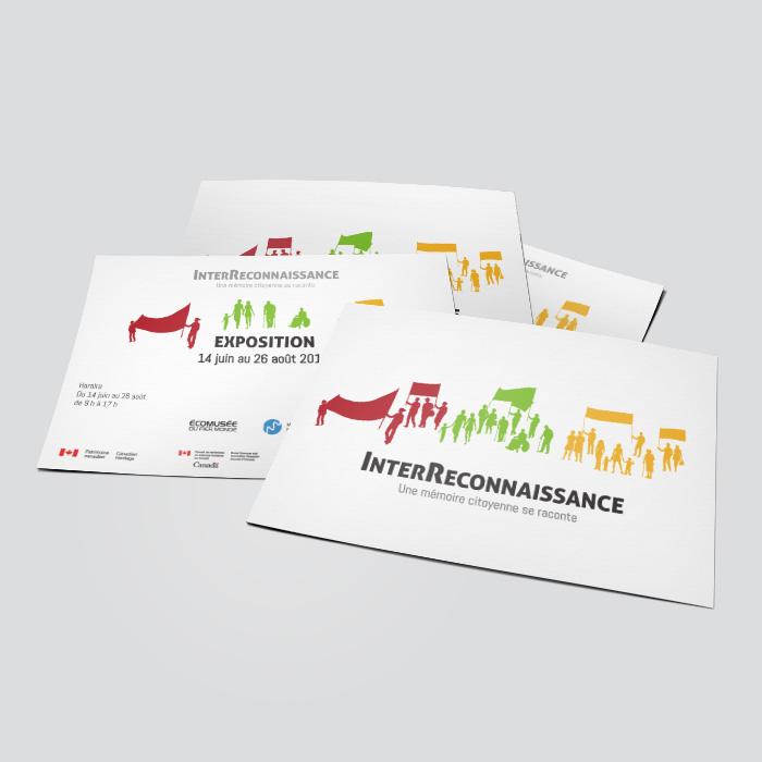 Cartons promotionnels - InterReconnaissance | Coquelicot design