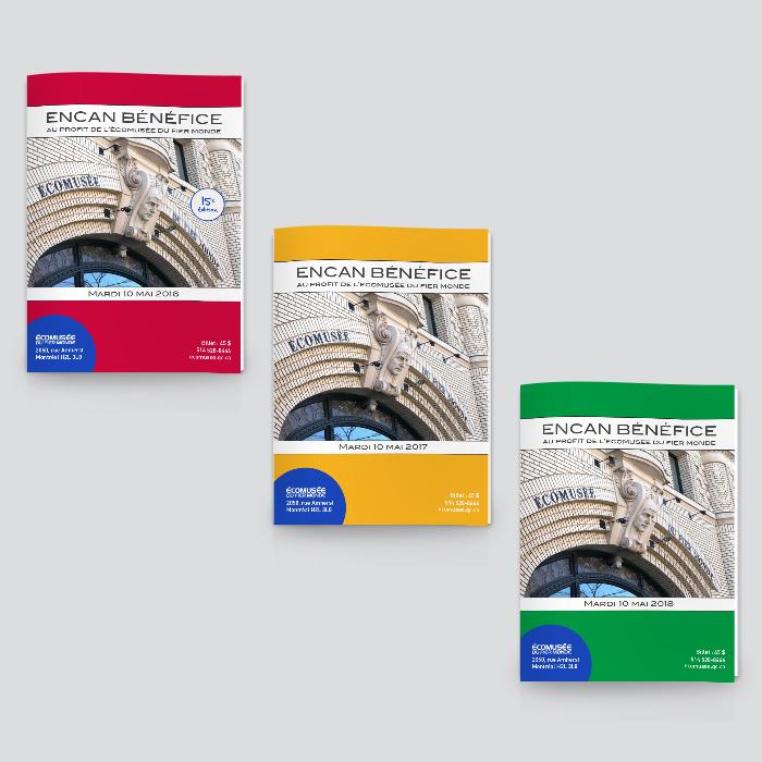 Catalogues 2016 - 2017 - 2018 - Encan bénéfices Écomusée du fier monde | Coquelicot design