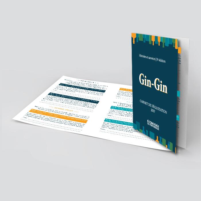 Carnet de dégustation - Gin gin | Coquelicot design