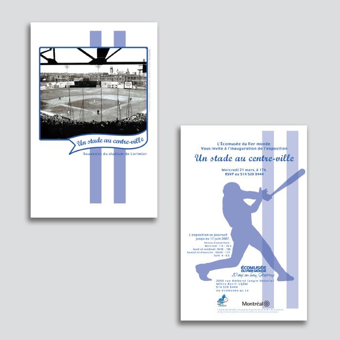 Cartons promotionnels - Un stade au centre ville | Coquelicot design