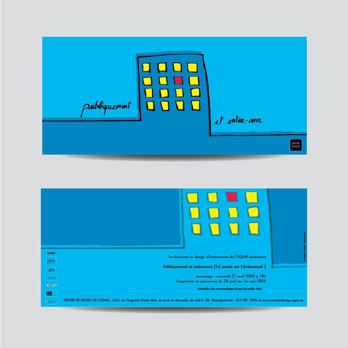 Cartons d'invitation - Publiquement et entre-nous | Coquelicot design