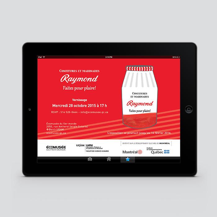 Invitation virtuelle - Confitures et marinades Raymond : faites pour plaire! | Coquelicot design
