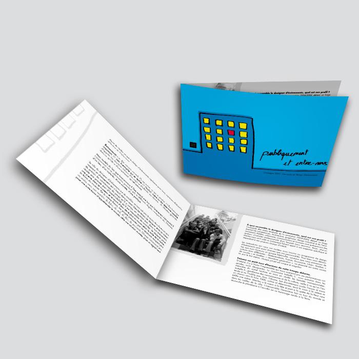 Brochure - Publiquement et entre-nous | Coquelicot design