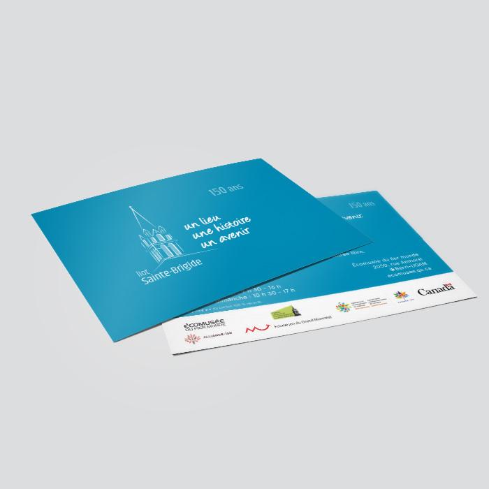 Cartons promotionnels - Ilot Sainte Brigide | Coquelicot design