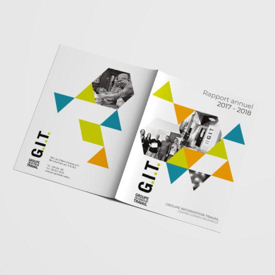 Rapport annuel - Groupe Information Travail (GIT) | Coquelicot design