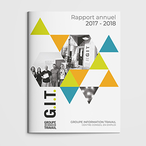 Rapport annuel - Groupe Information Travail (GIT) | Coquelicot design